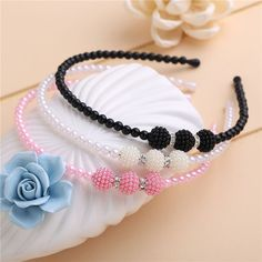 2f2234c72a2d1 Fashion Women Girls Crystal Pearls Headband Head Piece Princess Jewelry  Hairband