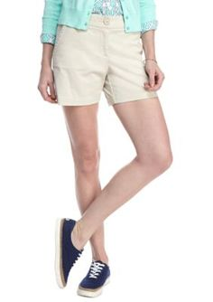 Crown  Ivy  Pebble Gray Petite Solid Shorts