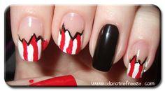 Pirate nail tutorial, yarr!