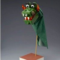 This Dragon Puppet would be great for Chinese New Year or table decorations for Blue and Gold Dinners or puppet theatre New Year's Crafts, Diy Arts And Crafts, Painted Wood Crafts, Dragon Puppet, Puppet Tutorial, Chinese New Year Crafts, Puppet Crafts, Classroom Themes, Classroom Resources