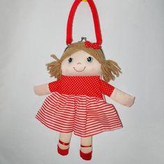 Bolsa De Boneca De Pano - Tecido - Vermelho - R$ 25,90 em Mercado Livre