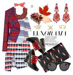Autumn frenzy by pensivepeacock on Polyvore featuring polyvore, fashion, style, Tanya Taylor, Vivienne Westwood Anglomania, Miu Miu, Yves Saint Laurent, Ben-Amun, Etro, Illesteva and Marc