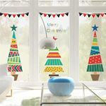 Cartoon Christmas Tree Gifts Wall Stickers For Kids Rooms Store Window Home Decor New Year Mural Art PVC Wall Decals Cartoon Christmas Tree, Christmas Tree Star, Christmas Tree With Gifts, Christmas Tree Design, Colorful Christmas Tree, Christmas Decorations, Merry Christmas, Xmas, Wall Stickers Home