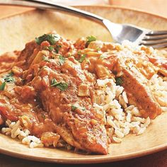 Quick Chicken Tikka Masala: a quick one-skillet method to adapt for use with firm fish, shrimp, etc.