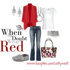 Red #fashion #style.   Red is my favorite color.