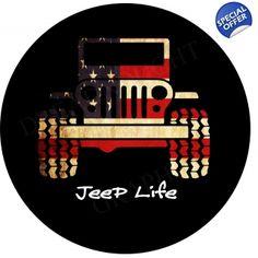 american flag jeep life t..