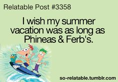 I never got 104 days of summer vacation!!!