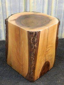Rustic Room Art Walnut End Table Stump Stool Rustic Wood Furniture 10217 | eBay