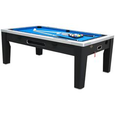 Berner 6N1 Multi Game Table - Black