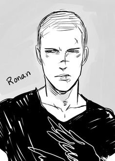 Ronan from The Raven Boys by Maggie Stiefvater. Artwork by Cassandra Jean: http://cassandrajp.tumblr.com