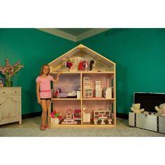 /árbol con Muebles mu/ñecas y Accesorios Toys of Wood Oxford Casa de Madera casa de mu/ñecas