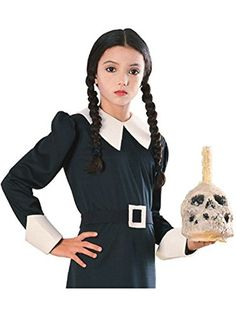 Great Group Halloween Costumes: The Addams Family - Wednesday Addams Wig Costume Accessory