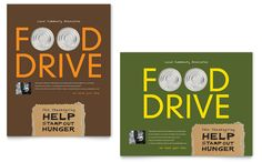 food design posters | Holiday Food Drive Fundraiser Poster Template Design | StockLayouts