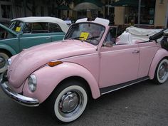 Pink VW ~ OmGosh this is so awesome. You  Have to look at the pink & white interior.