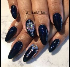 Navy color with a gem
