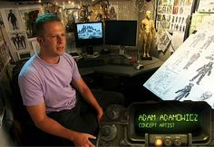 Adam Adamowicz - concept artist that designed Fallout 3, Skyrim, and most other Bethesda titles.