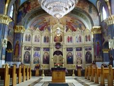 You thought the outside of the #cathedral was beautiful, but take a look at the inside of St. Theodosius Orthodox Cathedral in #Tremont!