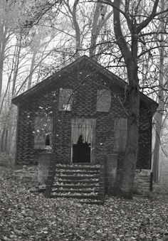 This abandoned church is located in Burkittsville, Maryland, filming location of 1999′s The Blair Witch Project. Photo courtesy of Flickr user The Spider Hill.