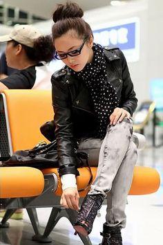 Short Leather Jacket Black