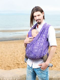 My fave BW model. Raja Morgan baby wrap in 50% Combed Cotton and 50% Soft ecru cotton