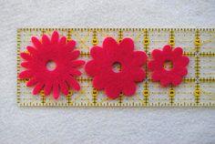 36 Piece Die Cut Felt Flowers Purples Flower by ifeltsprightly, $4.20