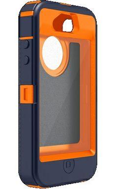 Denver Broncos iPhone 4 / 4S Case - OtterBox Custom Blue & Orange iPhone case