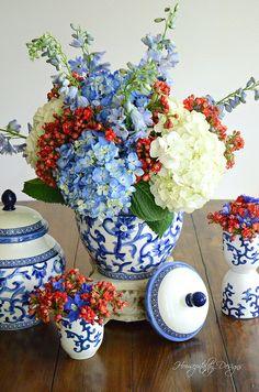Floral Arrangement-Housepitality Designs #FloralFriday #patriotic