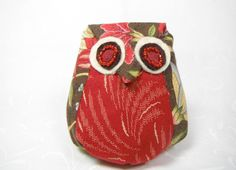 Owl Pin Cushion Pin Keep Owl Sewing Notions Pin Keep Crushed English Walnut Shell Filling by TheCopperFinch on Etsy
