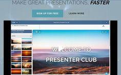 Presenter Club es una herramienta online, con una modalidad gratuita, para crear y compartir presentaciones. Una utilidad realmente fácil de utilizar.