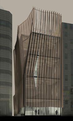 NADAAA Obzee Headquarters folding screen facade