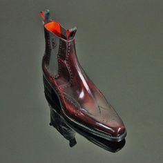 Best seller at Corachic - Shoe Type: BootsToe Type: Round ToeClosure Type:SliponHeel Type: FlatHeel Height: MaleOccasion:Casual, DailySeason: Spring, Autumn, WinterMaterial:Upper Material:Cow LeatherOutsole Material: of shoes Mens Shoes Boots, Mens Boots Fashion, Leather Boots, Leather Men, Shoe Boots, Gq Fashion, Fashion Shoes, Dress With Boots, Dress Shoes