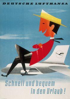 Deutsche Lufthansa - Schnell und bequem in den Urlaub / 1958