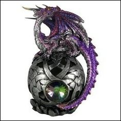 Dragon gothique violet et argent Sphere of Arthran Violet, Decoration, Dragon, Gothic, Brooch, Jewelry, Gothic Store, Incense Holder, Goth Style