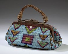 Sioux Beaded Hide Traveling Bag, (2003 American Indian  Arts.  Sept. 12-13)