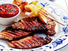 Grilované kotlety. Steak, Soup, Yummy Food, Baking, Delicious Food, Patisserie, Backen, Steaks, Bread
