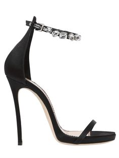 120MM DEBRA SWAROVSKI & SATIN SANDALS