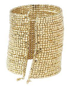 Women's GoldCyrus Bead Cuff Bracelet