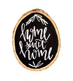 Home sweet home wood slice quotes tree slice quotes by ADEprints