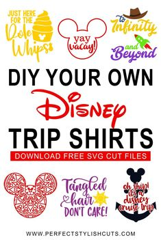 DIY Disney Trip Shirts - Free Disney SVG Files Make your own DIY Disney vacation shirts with these Disney Vacation Shirts, Disney Shirts For Family, Disney Vacations, Disney Trips, Disney Cruise, Disney Diy Shirts, Family Vacations, Disney Family, Cruise Vacation