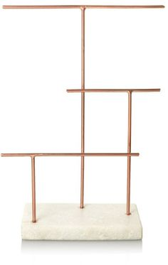 Jump On the Copper Trend With These 42 Home Accessories The post Oliver Bonas Copper & Marble Three Tier Jewellery Stand appeared first on Best Pins for Yours - Diy Home and Decorations Jewellery Storage, Jewelry Organization, Jewellery Displays, Jewellery Boxes, Copper Home Accessories, Copper And Marble, White Marble, Marble Jewelry, Oliver Bonas