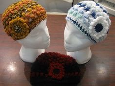 Crocheted Puff Hats 2