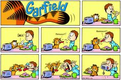Find your favorite Garfield comic strips by date or keyword. Garfield Pictures, Garfield Quotes, Garfield Cartoon, Garfield And Odie, Garfield Comics, A Funny, Funny Cats, Funny Jokes, Hilarious