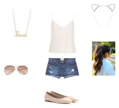 """""""Summer"""" by missyt123 on Polyvore featuring Raey, Current/Elliott, Lipsy, Chloé, Sydney Evan and H&M"""