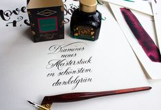 "Diamines neues Meisterstück an Sheen-Tinten ""November Rain"" Workshop, November Rain, Ink, Amazing, Graz, Atelier, Work Shop Garage, India Ink"