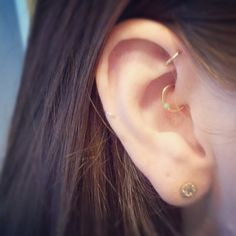 delicate gold daith and forward helix
