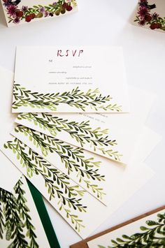 Custom illustrated rustic RSVP. Illustrated by Katie Wilson for Jolly Edition.