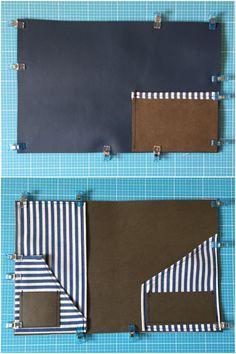 Diy Wallet Template, Diy Wallet Tutorial, Bookbinding Tutorial, Diy Wallet Wristlet, Diy Wallet Easy, Fabric Scraps, Fun To Be One, Diy Fashion, Diy Crafts