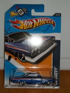 Hot Wheels 2012- '62 Chevy- Blue Muscle Mania