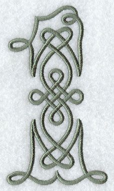 Celtic Knotwork Number 1 - 5 Inch design (F9354) from www.Emblibrary.com