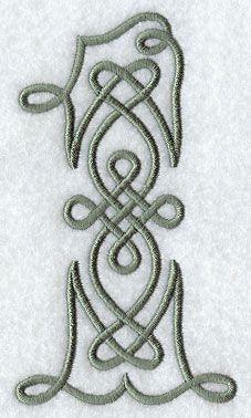 Celtic Knotwork Number 1 - 5 Inch